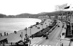 Llandudno, The Promenade Looking East c.1955
