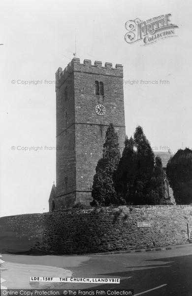 Photo of Llandybie, St Tybie's Church c.1955