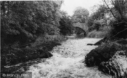Llandysul, River Teifi And Bridge c.1960