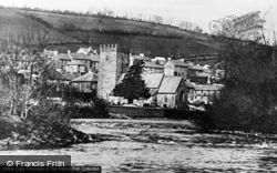 Llandysul, River Teifi And St Tysul's Church c.1960