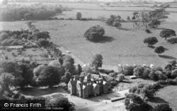 Llanedwen, Aerial View Of Plas Coch Caravan Site And Mansion c.1960