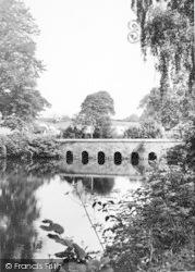 Llanedwen, The Bridge, Plas Coch Caravan Park c.1955