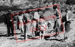 People On The Beach c.1950, Llaneilian