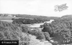 Llanelli, Lower Lliedi Reservoir From Upper Dam c.1950