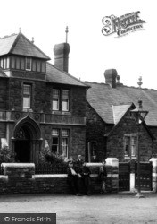 Llanelli, People At Hospital Gate 1896