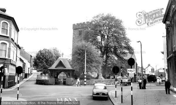 Llanelli, the Parish Church c1965