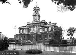 Llanelli, Town Hall c.1955