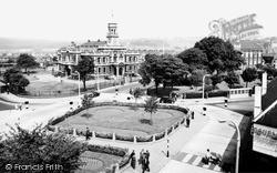 Llanelli, Town Hall Square 1957