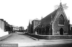 Llanelli, Wesleyan Church And Goring Road 1896