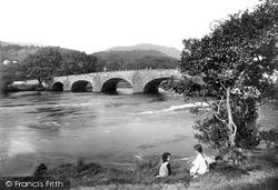 Llanelltyd, Bridge Over The River Mawddach 1913