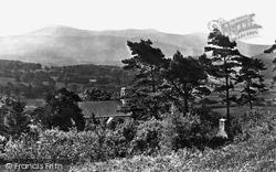 Llanelltyd, Church And Cader Idris c.1877