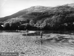 Llanelltyd, Fishing On The River Mawddach c.1960
