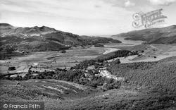 Llanelltyd, Mawddach Estuary From Precipice Walk c.1960