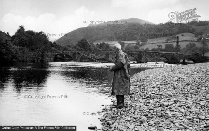 Photo of Llanelltyd, Salmon Fishing In The River Mawddach c.1955