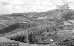 Llanelltyd, View From Precipice Walk c.1960