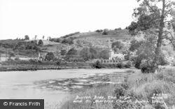 Llanelwedd, Builth Bide, The Wye And St Matthew's Church c.1950