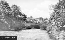 Llanfair Caereinion, The Bridge And River c.1955