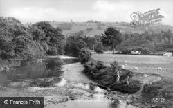 View From Neaudd Bridge c.1960, Llanfair Caereinion