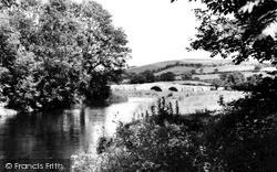 Llanfair Clydogau, River Teifi c.1955