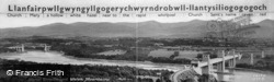 Menai Straits And Welsh Mountains c.1900, Llanfair Pwllgwyngyll