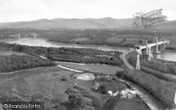 Menai Straits From Anglesey Column c.1890, Llanfair Pwllgwyngyll