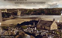 Llanfair Pwllgwyngyll, Menai Suspension Bridge And Llantysilio c.1890