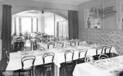 Llanfairfechan, Plas Menai, The Dining Room c.1955
