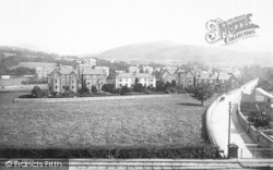 Llanfairfechan, Station Road And The Crescent From Railway 1892