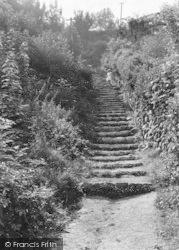 Llanfairfechan, The 86 Steps To Terrace Walk c.1935