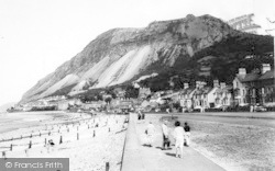 Llanfairfechan, The Promenade And Beach c.1960