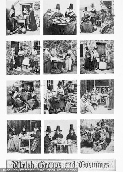 Photo of Llanfairfechan, Welsh Groups And Costumes c.1930