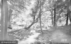 Llanferres, Fairy Glen, The Falls c.1955