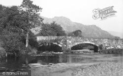 Llanfihanger Y Pennant, Pont-Y-Garth Bridge c.1935, Llanfihangel-Y-Pennant