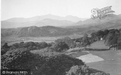 Llanfrothen, Snowdon Range From Brondanw Tower 1936