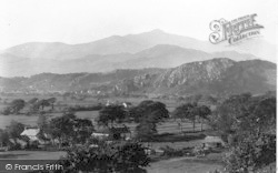 Llanfrothen, View Towards Snowdon c.1936