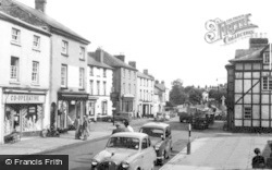 Llanfyllin, The Square c.1960