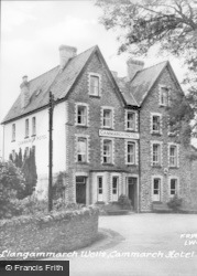 Llangammarch Wells, Cammarch Hotel c.1955