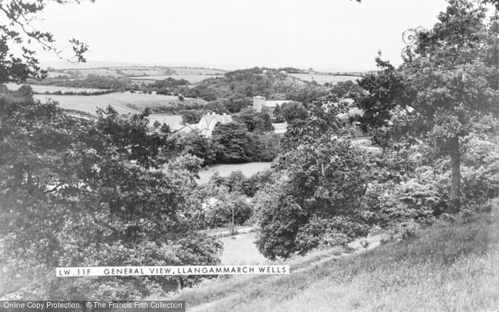 Photo of Llangammarch Wells, General View c.1955