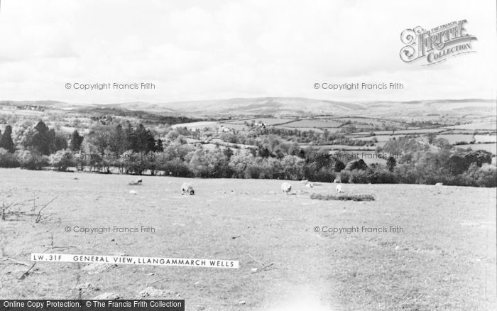 Photo of Llangammarch Wells, General View c.1960