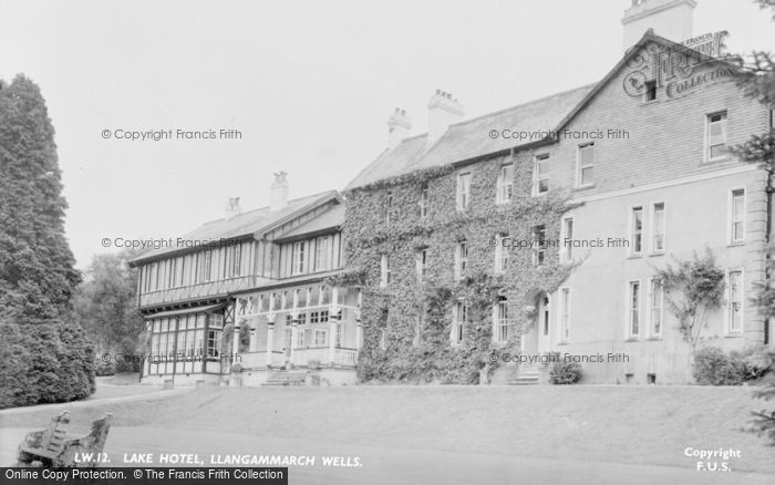 Photo of Llangammarch Wells, Lake Hotel c.1955