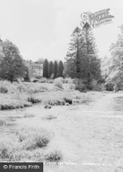 Llangammarch Wells, Lake Hotel, River Irfon And Grounds c.1960