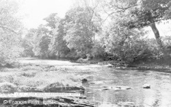 Llangammarch Wells, River Irfon c.1955