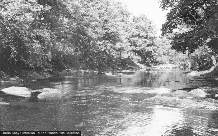 Photo of Llangammarch Wells, River Irfon c.1955