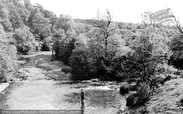 Photo of Llangammarch Wells, River Irfon c.1955