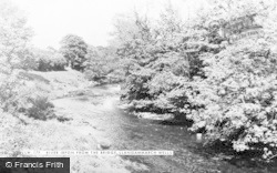 Llangammarch Wells, River Irfon From The Bridge c.1955