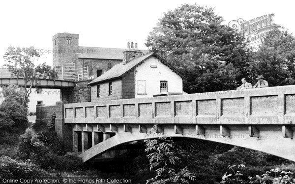 Photo of Llangammarch Wells, The Bridge And St Cadmarch's Church c.1955