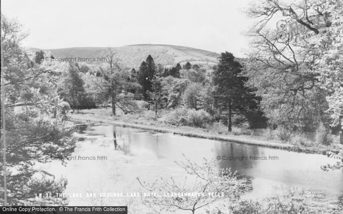 Photo of Llangammarch Wells, The Lake And Lake Hotel Grounds c.1960