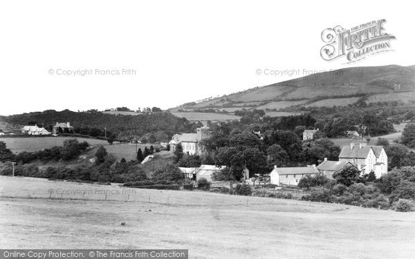 Photo of Llangammarch Wells, The Village From The West c.1955