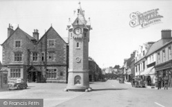 Square And Clock Tower c.1950, Llangefni