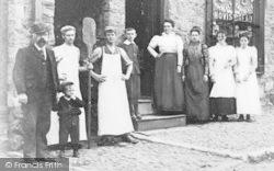 Llangefni, Staff At The Gwalia Temperance Bakery c.1910
